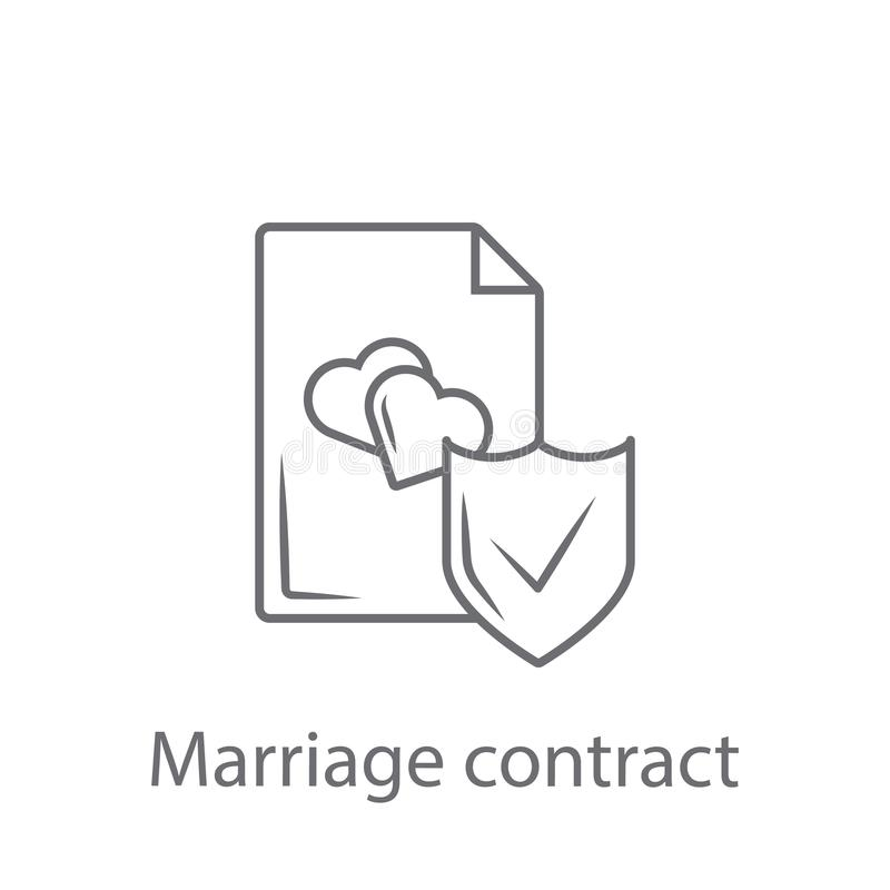 Marriage contract icon. Simple element illustration. Marriage contract symbol design from Insurance collection set. Can be used fo. R web and mobile on white vector illustration