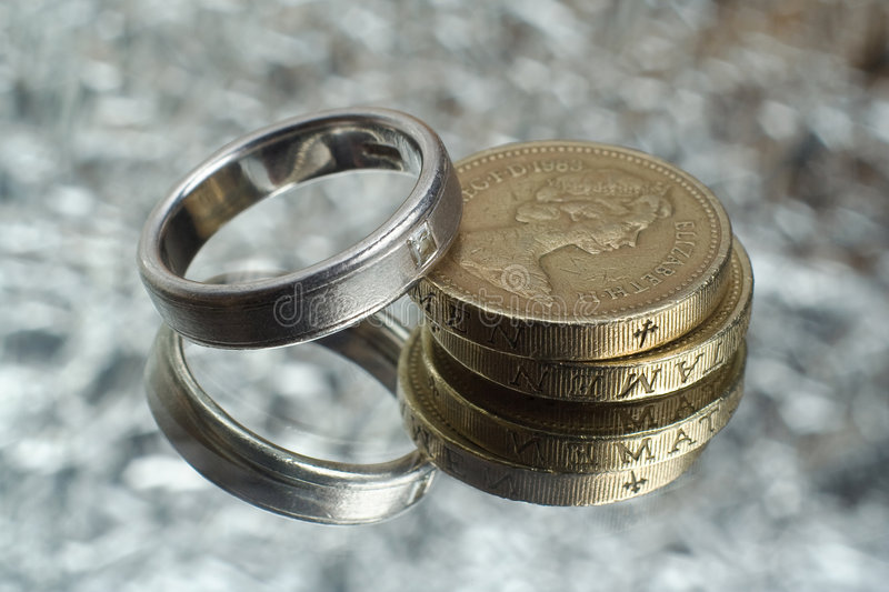Download Marriage costs stock photo. Image of money, reflected - 4233376