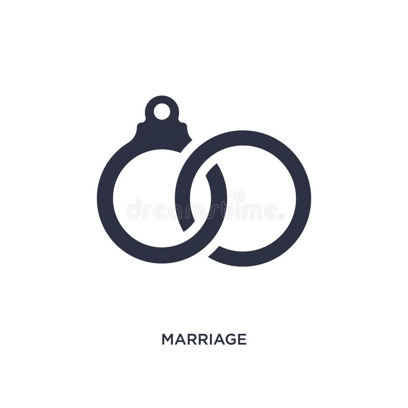 Marriage icon on white background. Simple element illustration from birthday party and wedding concept. Marriage icon. Simple element illustration from birthday vector illustration