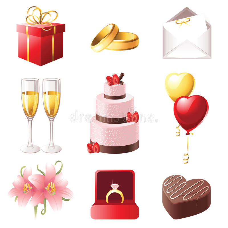 Download Marriage icons stock vector. Illustration of chocolate - 22552030