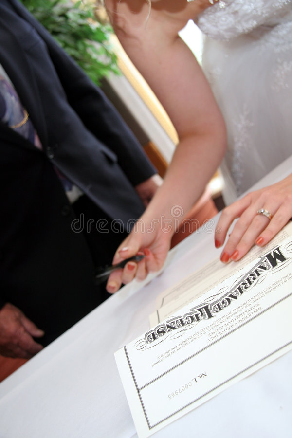 Marriage License royalty free stock image