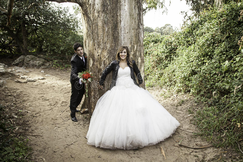 Marriage love forest royalty free stock photo