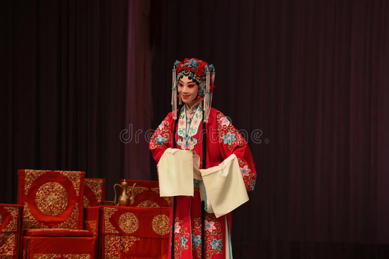 """Marriage period- Beijing Opera"""" Women Generals of Yang Family"""". This opera tells a patriotic story how does an old woman of a hundred years old go stock photo"""