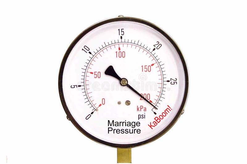 Marriage Pressure Gauge. A conceputal stress gauge of marriage pressure royalty free stock image
