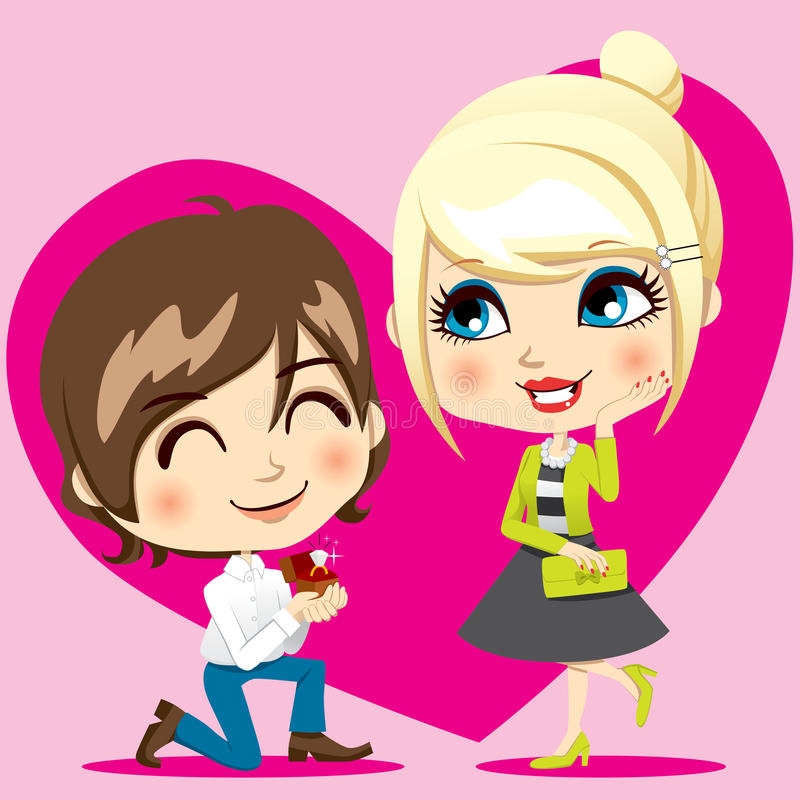 Download Marriage Proposal stock vector. Image of illustration - 23399575