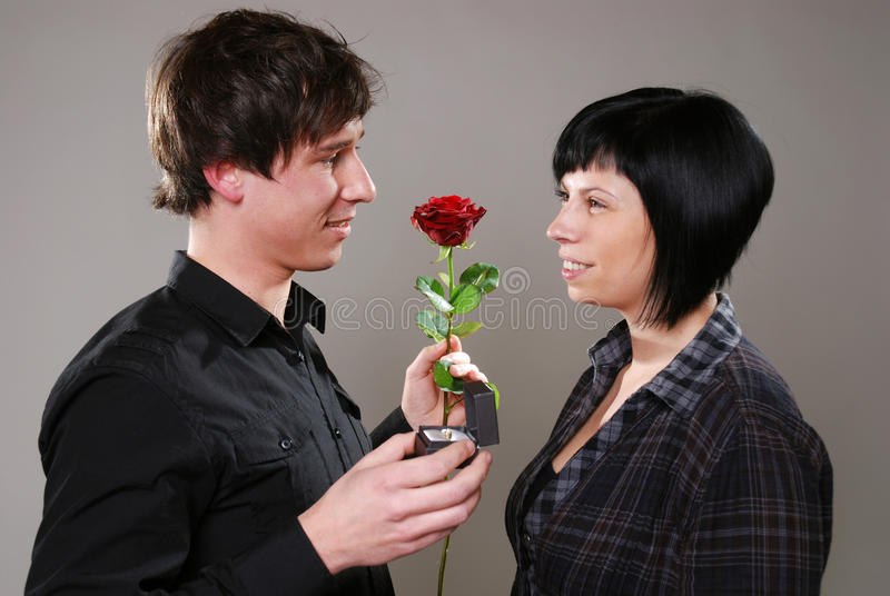 Download Marriage proposal stock image. Image of horizontal, happy - 24257289