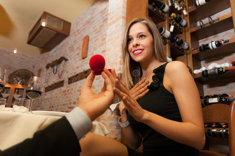 Download Marriage proposal stock photo. Image of celebration, present - 27694598