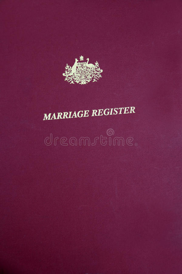 Marriage Register royalty free stock photography