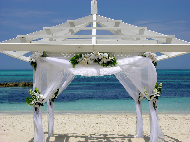 Married In The Bahamas royalty free stock photo