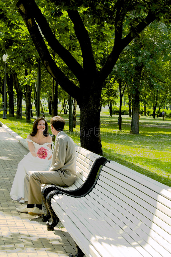 Married couple on the branch royalty free stock photo