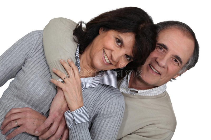Married Couple Hugging Royalty Free Stock Images
