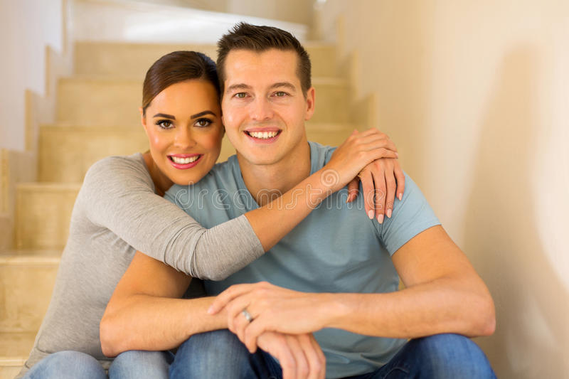 Married couple relaxing royalty free stock photography
