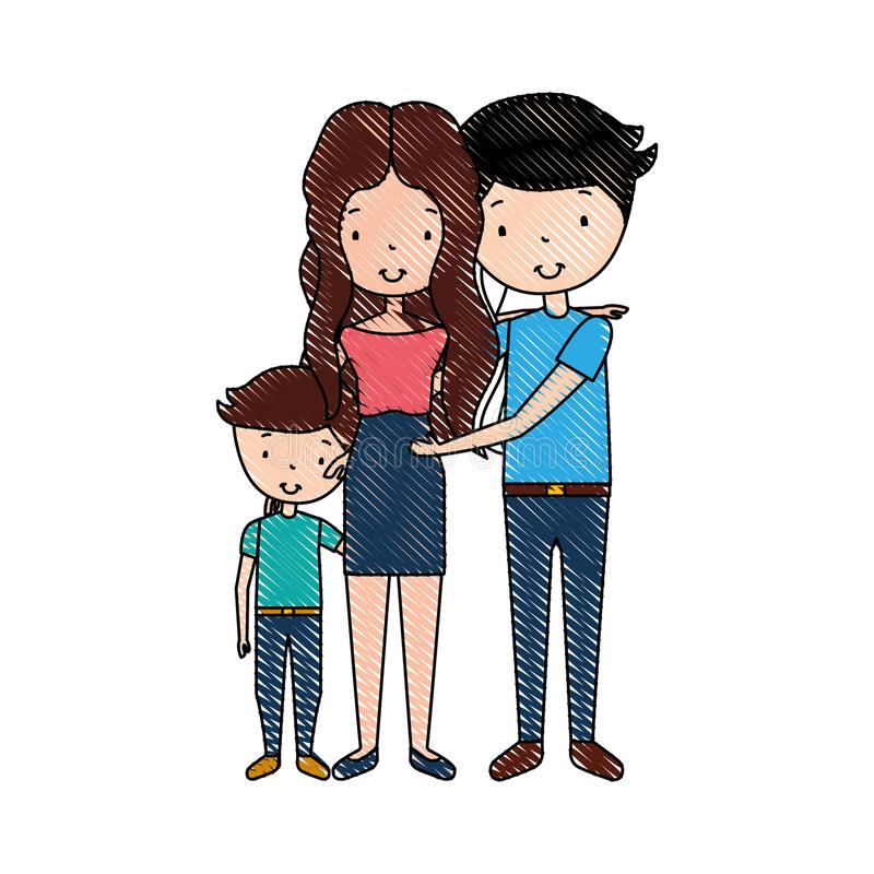 Married couple with son. Vector illustration design vector illustration