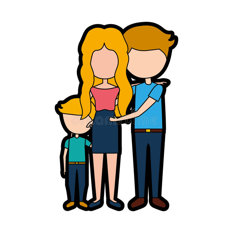 Married couple with son. Vector illustration design stock illustration