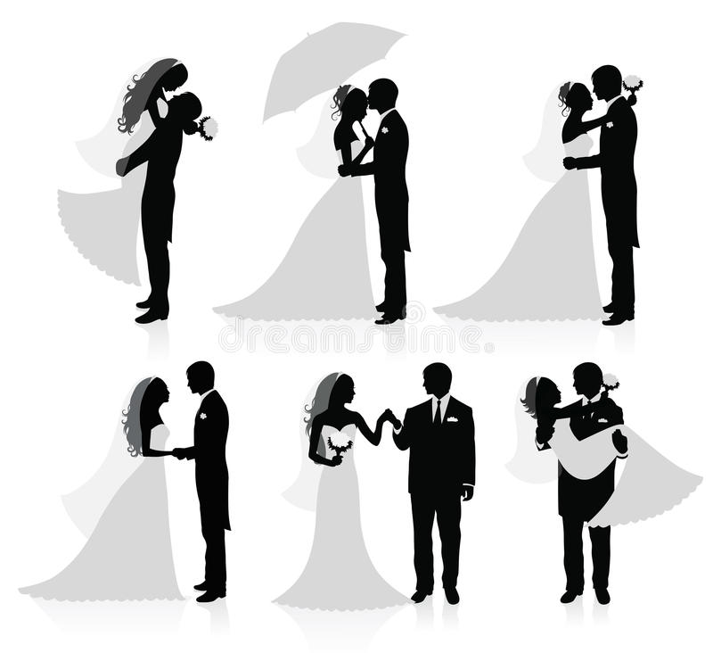 Married couples. vector illustration