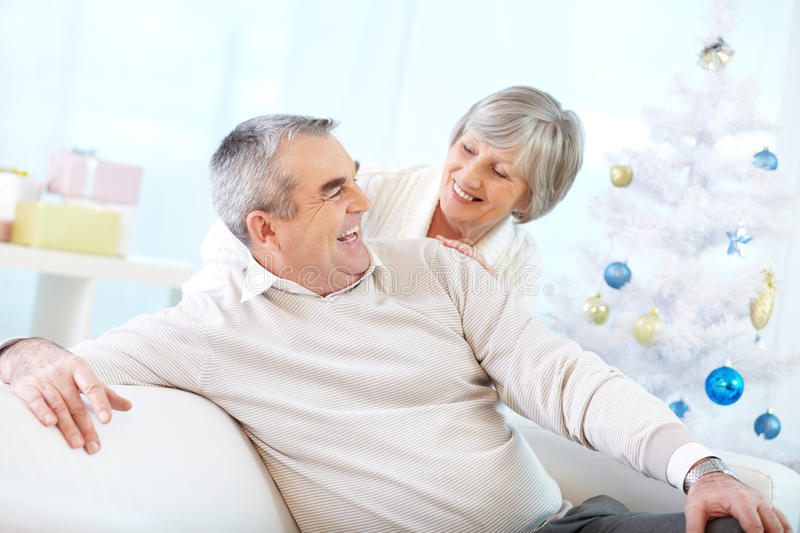 Married life of the aged stock photo