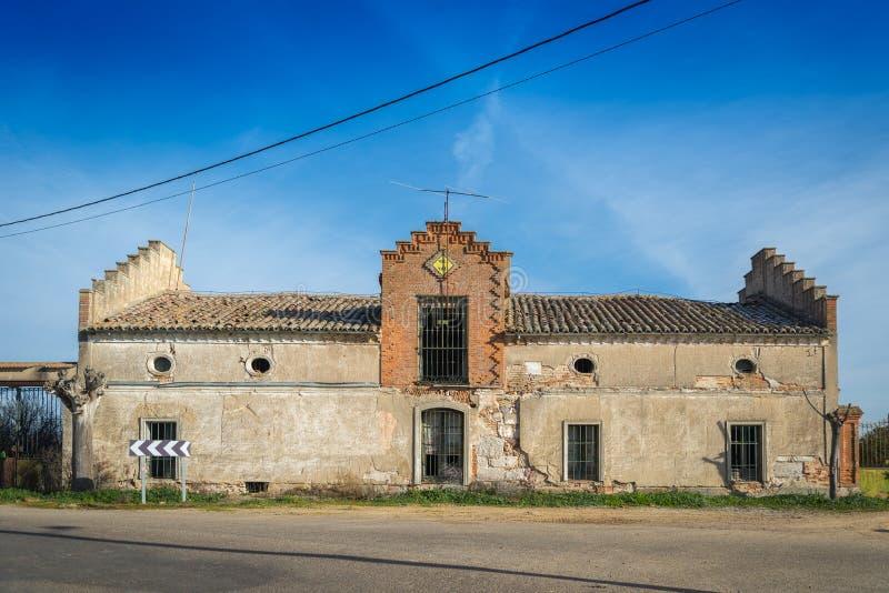 He marries ruin. Zamora house of people abandonadaen ruin royalty free stock image