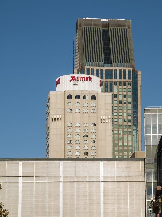 Marriot-Hotel im Stadtzentrum gelegenes Montreal stockfotos