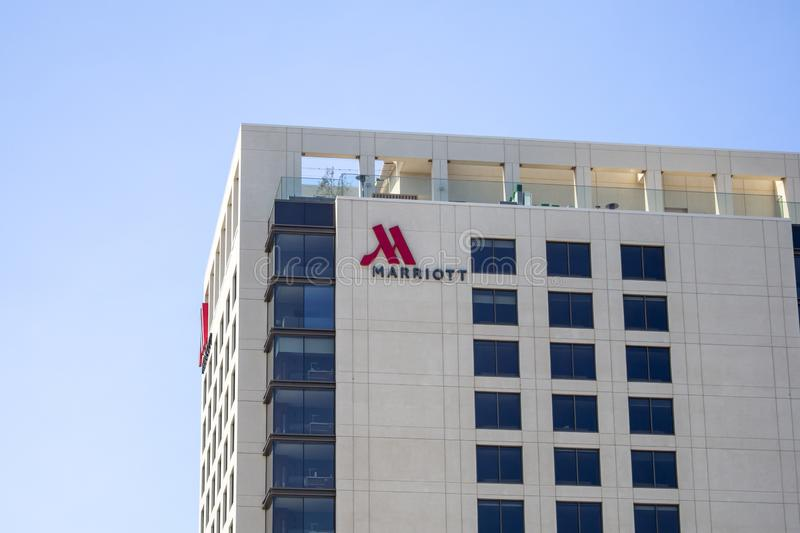 Marriott Hotel building and sign stock photo