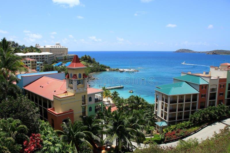 Marriott semesterort St Thomas royaltyfria foton