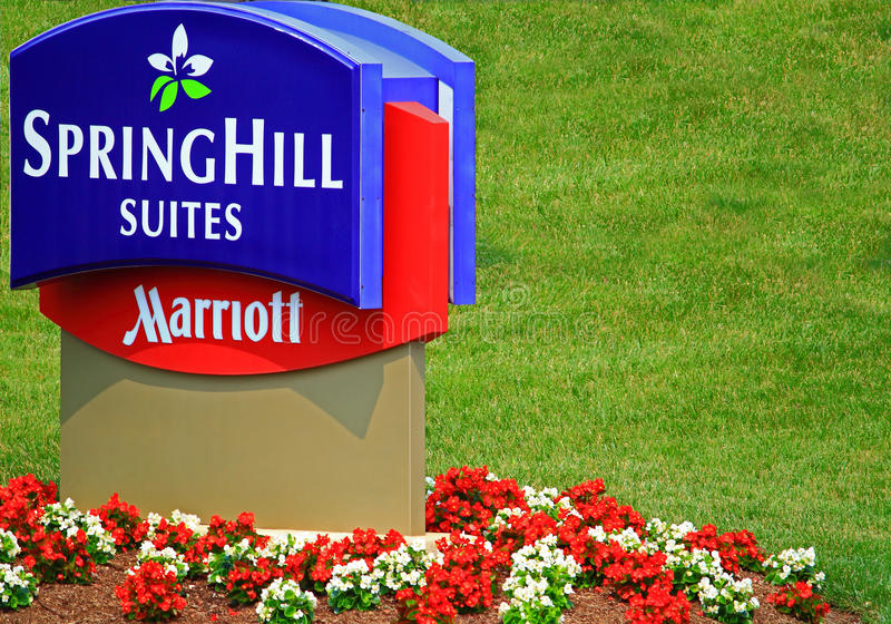 Marriott SpringHill Suites. Hotel or Inn in USA stock photos