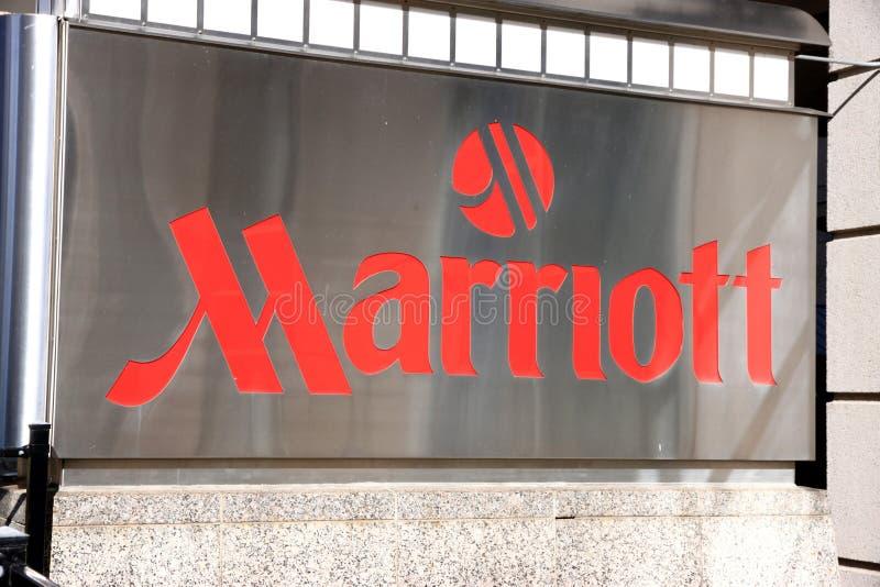 Marriott Zeichen stockfotografie