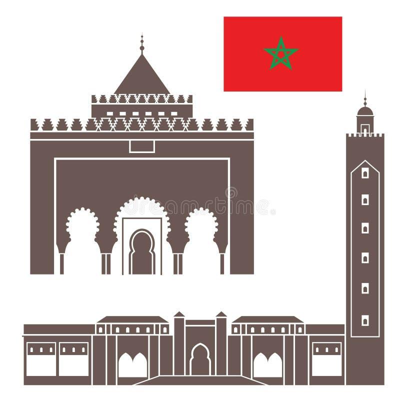 marrocos ilustração do vetor