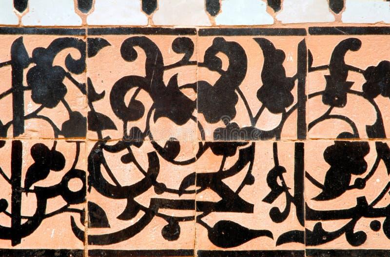 Marrocos, C4marraquexe: Madrasa de Ben Youssef fotografia de stock