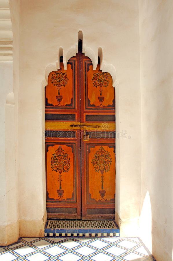 Marrocos, C4marraquexe: Palácio C4marraquexe de Baía fotografia de stock royalty free