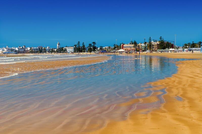 Marrocos de surpresa, Essaouira incrível, praia maravilhosa imagens de stock
