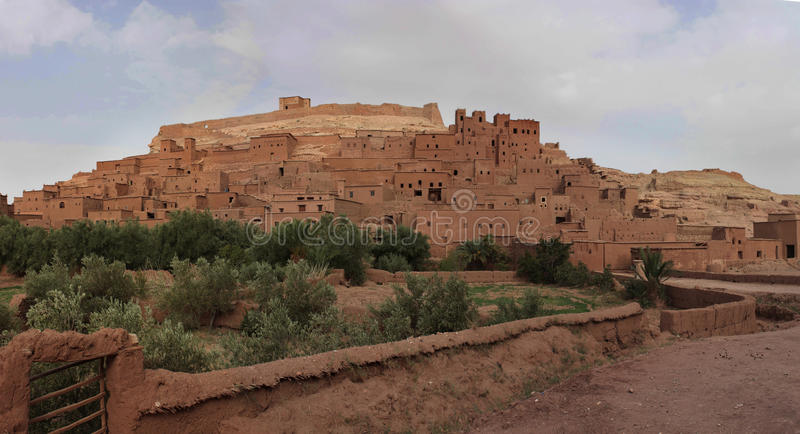 Marrocos - Kasbah de Ait Benhaddou imagens de stock