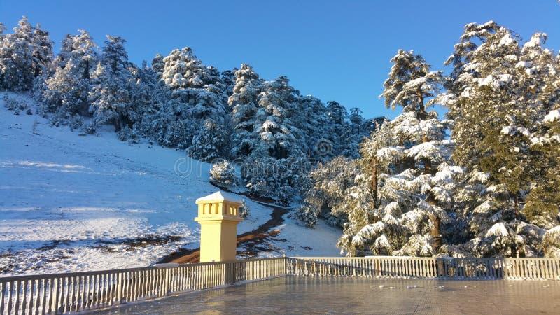Marrocos a neve imagem de stock