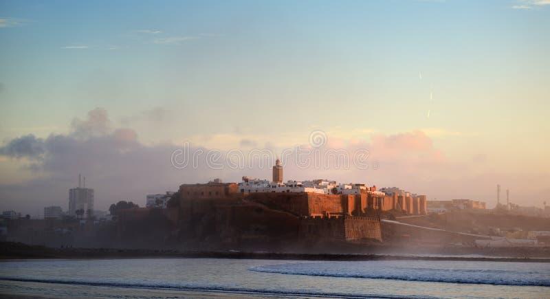 marrocos O Kasbah do Oudaya em Rabat fotografia de stock royalty free
