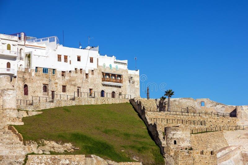 Marrocos, Tanger, Medina, fortaleza antiga na cidade velha imagens de stock royalty free