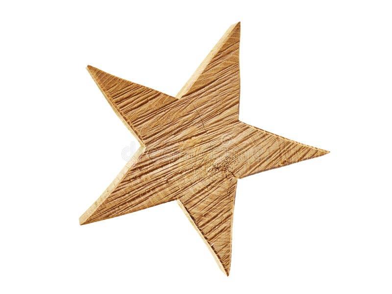 Marrom da madeira da estrela fotografia de stock