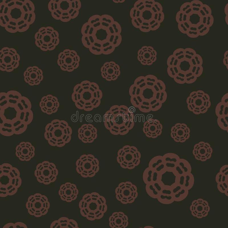 Marrom marrom do fundo sem emenda o Árabe, otomano, teste padrão persa Ornamento da mandala no vetor pode ser usado para ilustração royalty free