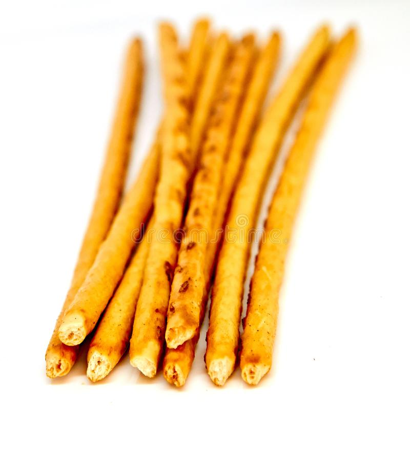 Marrom dourado das varas salgados imagem de stock