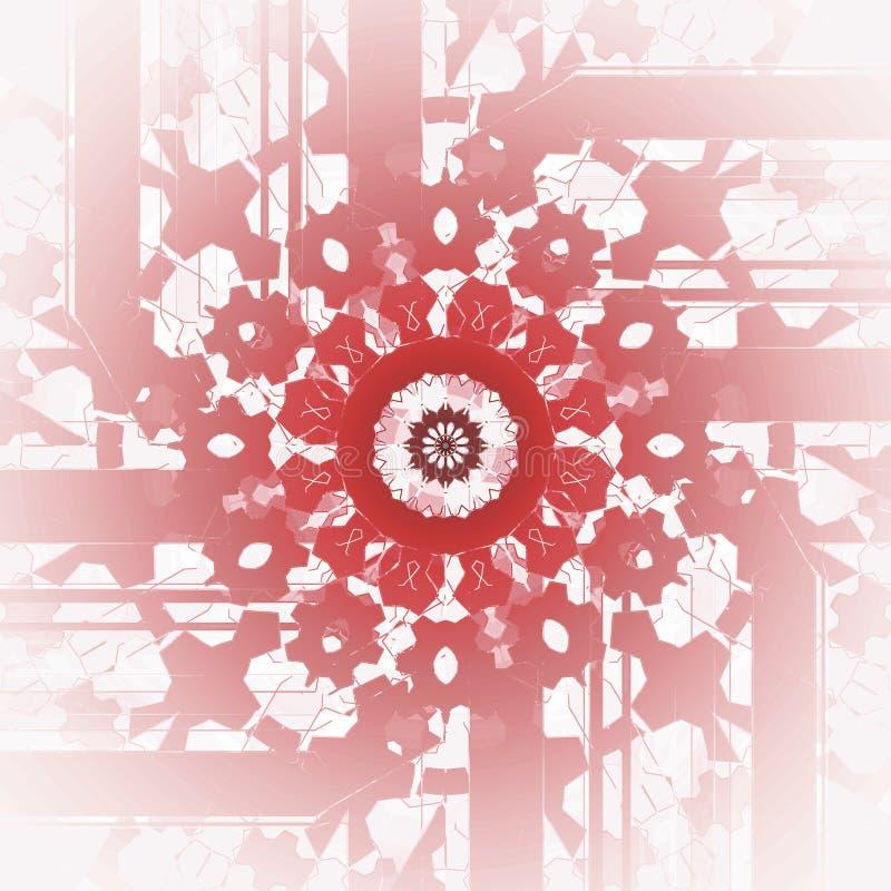 Marrom vermelho pastel do rosa redondo regular do ornamento centrado e borrado ilustração do vetor