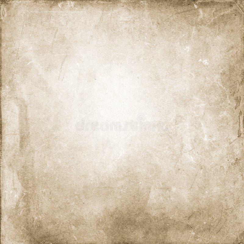 Marrone del fondo di lerciume, struttura di carta approssimativa, annata, punti, graffi, spazio in bianco, ruvido, beige, antico royalty illustrazione gratis