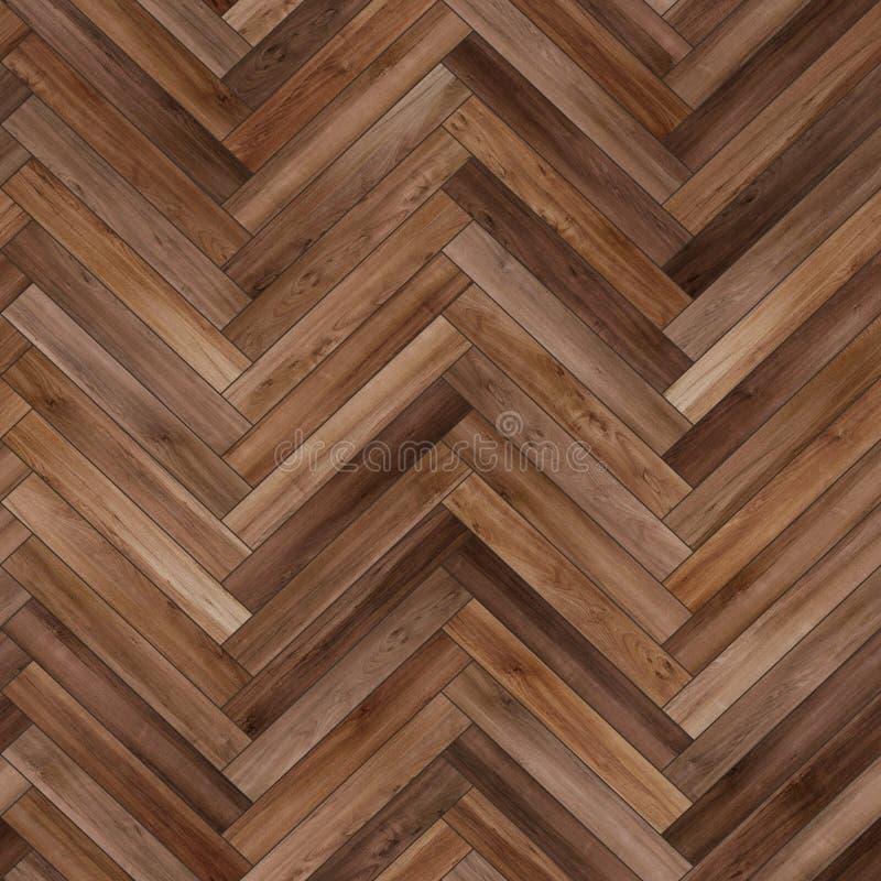 Marrone di legno senza cuciture della spina di pesce di struttura del parquet fotografia stock libera da diritti