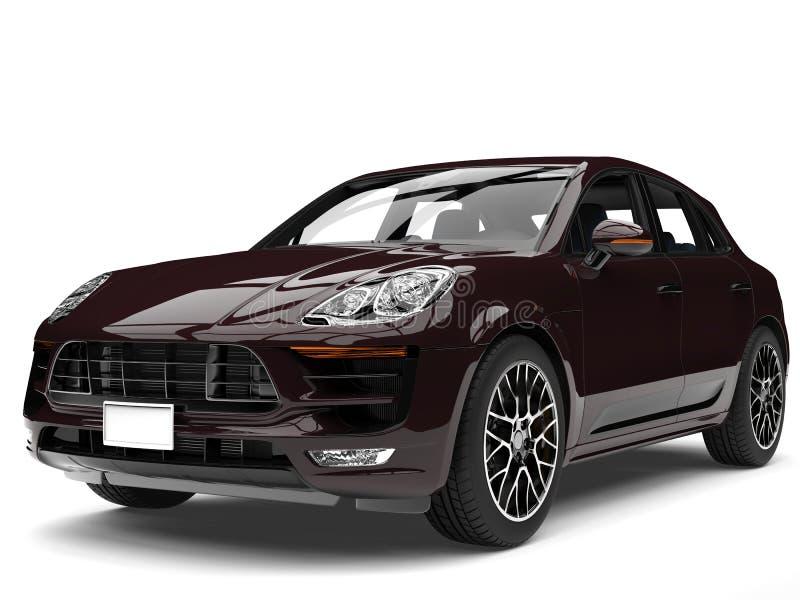 Marrone scuro fresco SUV moderno royalty illustrazione gratis