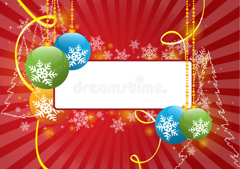 Download Marry christmas stock vector. Illustration of chane, snow - 7652494