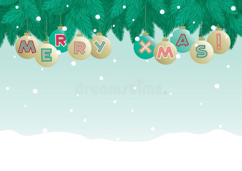 Marry christmas! stock illustration
