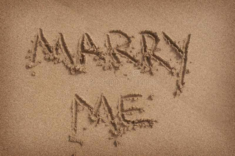 Download 'Marry Me' Written In Sand On Beach Stock Photo - Image: 28071626