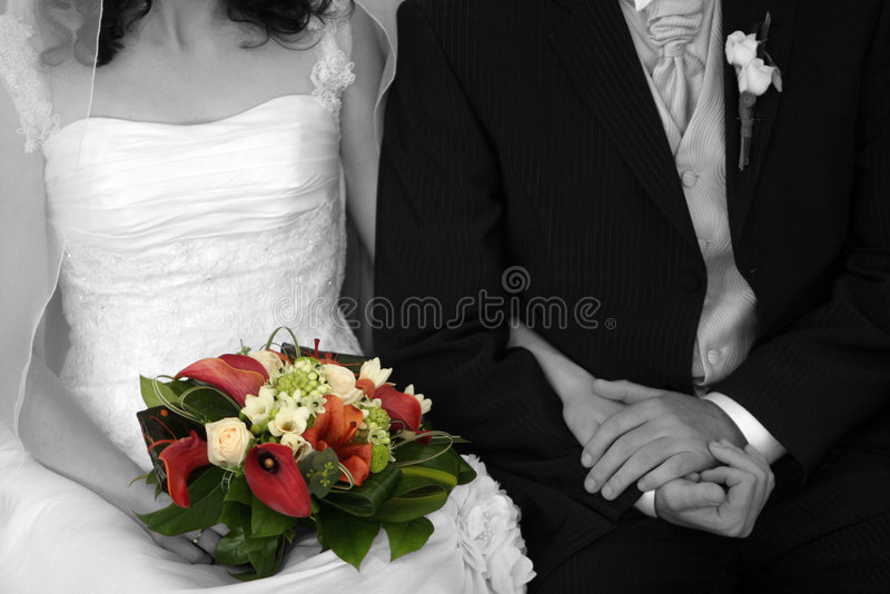 Marrying couple stock photo