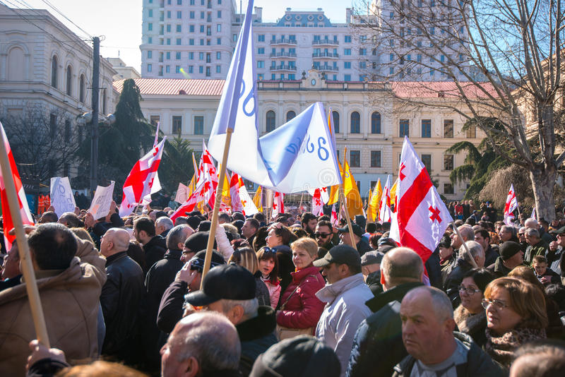 Mars à Tbilisi la Géorgie photos libres de droits