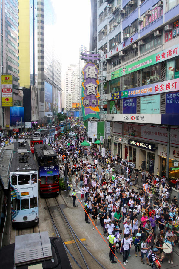 Mars 2011 de Hong Kong le 1er juillet photo stock
