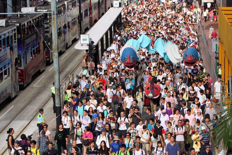 Mars 2011 de Hong Kong le 1er juillet photos stock