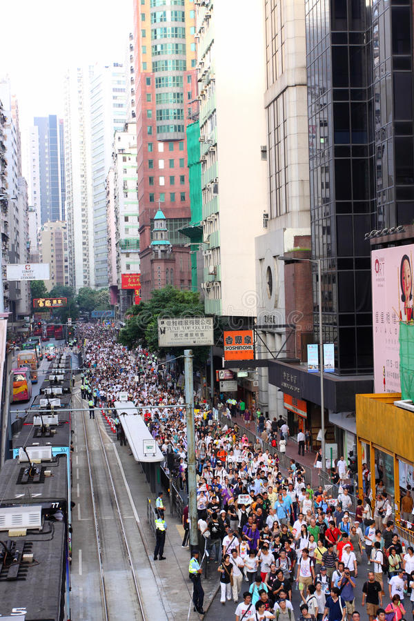 Mars 2011 de Hong Kong le 1er juillet photographie stock