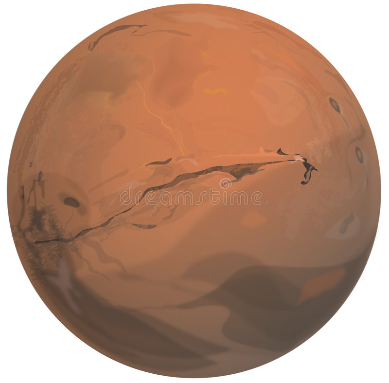 Download Mars stock illustration. Image of earth, graphic, isolated - 6958075